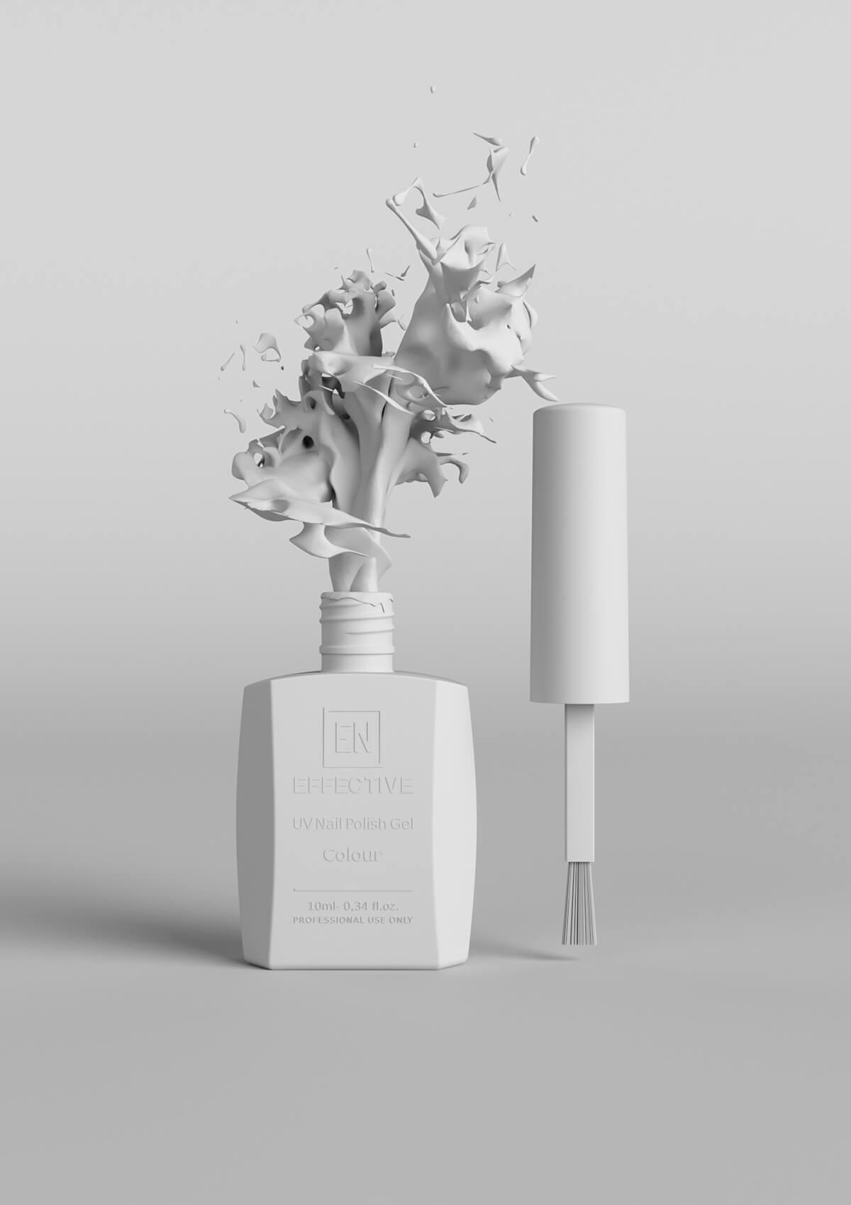 uv nail polish gel 3d product visualization clay render